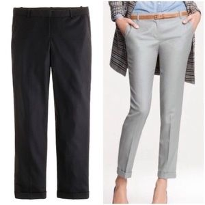 J Crew Wool Cropped Trousers Cafe Capri Pants Tall